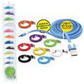 10ft Iphone 5 & 6 Charging Sync Cables 12ct. - Assorted Colors.