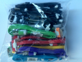 24CT. IPHONE4 USB CABLE BAG, MIX COLOR/SCAN CODE.