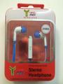 STEREO HEADPHONE EAR PHONE BLUE/WHITE.