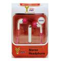 STEREO HEADPHONE EAR PHONE PINK/WHITE