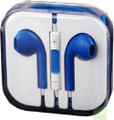 Earphone Earbud Headset Headphone Lot 10 pcs. Blue Color/Barcode.