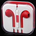 Earphone Earbud Headset Headphone Lot 10 pcs. Red Color/Barcode.