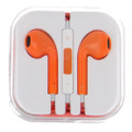 Earphone Earbud Headset Headphone Lot 10 pcs. Orange color/Barcode.