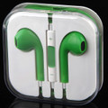 Earphone Earbud Headset Headphone Lot 10 pcs. Green color/Barcode.