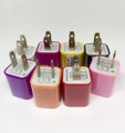 20ct. USB Wall Adapter Charger Assorted Colors.