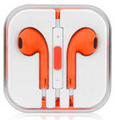 Earphone Earbud Headset Headphone Lot 100x pcs. Orange Color/Barcode.