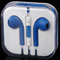 Earphone Earbud Headset Headphone Lot 100x pcs. Blue Color/Barcode.