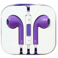 Earphone Earbud Headset Headphone Lot 10 pcs. Purple Color