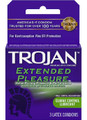 Trojan Extended Pleasure Lubricated Condoms, 3 Count (Pack of 6)