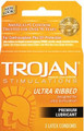 TROJAN Ultra Ribbed Premium Lubricant -6 Pack, 3 Ct. Each Box.