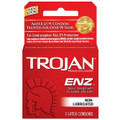 TROJAN - ENZ NON-LUBRICATED CONDOMS 3CT - 6PC (RED)
