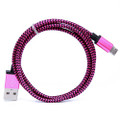 Micro USB Cable 1 Meter (3 Feet) 20 CT. Bag (Braided) Mix Color.