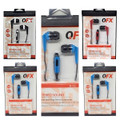 QFX EARPHONES H-55  W/Mic Asst Colors Carded  12pcs.