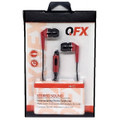 QFX EARPHONES H-55 W/Mic Red