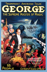 George, The Supreme Master of Magic - Vintage Poster Art Print