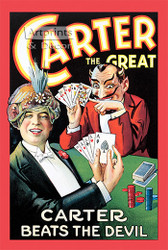 Carter Beats the Devil - Vintage Magic Poster Art Print