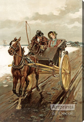 Love in Olden Days by Thure de Thulstrup - Stretched Canvas Art Print