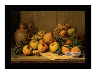 Still Life of Fruit - Framed Art Print