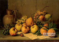 Still Life of Fruit by Giuseppe Falchetti - Art Print