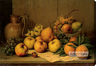 Still Life of Fruit by Giuseppe Falchetti - Stretched Canvas Art Print