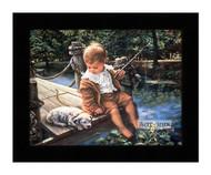 Gone Fishing - Framed Art Print