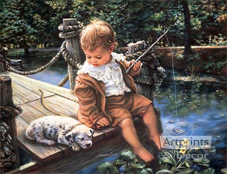 Gone Fishing by Sandra Kuck Art Print