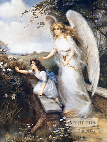 Guardian Angel Of The Bridge Ii Art Print By Mm Haghe At