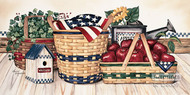 Basket & Things by Laurie Korsgaden - Art Print