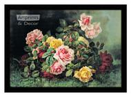 Gathering of Roses by Paul de Longpre – Framed Art Print
