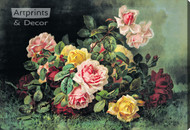 Gathering of Roses by Paul de Longpre – Stretched Canvas Art Print