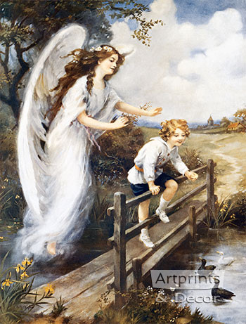 Guardian Angel Of The Bridge I Art Print By Mm Haghe At