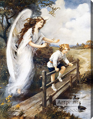 Guardian Angel of the Bridge I by M.M. Haghe - Stretched Canvas Art Print