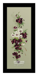 Purple & White Pansies - Framed Art Print*