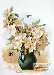 Apple Blossoms by Paul de Longpre - Art Print