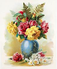 Rose Bouquet by Paul de Longpre - Art Print
