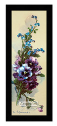 Pansies & Forget-Me-Nots - Framed Art Print