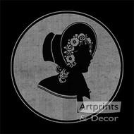 Lady - Vintage Silhouette - Art Print