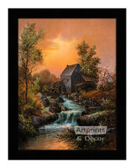 By the Old Mill Stream - Framed Art Print
