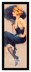 Lady in Blue by Hamilton King - Framed Art Print