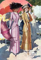 A Stroll on the Boulevard - Art Print