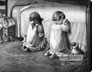 Little Tots Prayer - Stretched Canvas Art Print