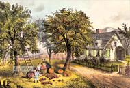 American Homestead by Currier & Ives - Art Print