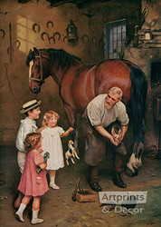 Won't You Fix My Horse Too by Arthur J. Elsley - Art Print