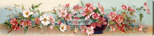 Wild Roses - Stretched Canvas Art Print