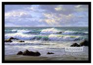 Emerald Tide - Framed Art Print
