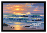 Golden Shore - Framed Art Print