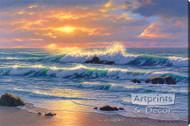 Golden Shore by Robert Richert - Stretched Canvas Art Print
