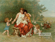 The Children of Eve by L. Knaus - Art Print
