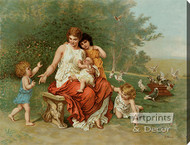 The Children of Eve by L. Knaus - Stretched Canvas Art Print