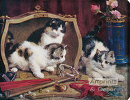 Costly Toys by Charles H. Van den Eycken - Stretched Canvas Art Print